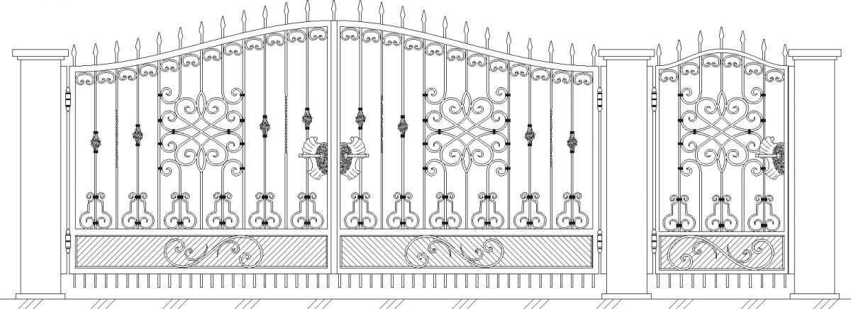 Чертежи ворот из металла