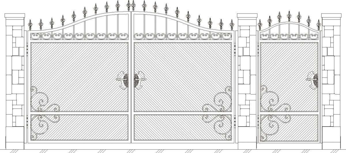 Ворота своими руками чертежи схемы эскизы конструкция видео