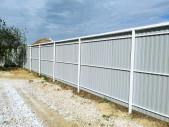 Забор из профлиста с откатными воротами