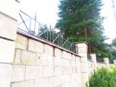 Кованые вставки на забор №1
