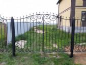 Кованые ворота и калитка №9