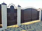 Кованые ворота и калитка №10