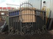 Кованые ворота и калитка №3