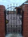 Кованые ворота и калитка №4